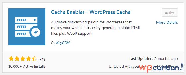 Cài đặt và kích hoạt plugin Cache Enabler