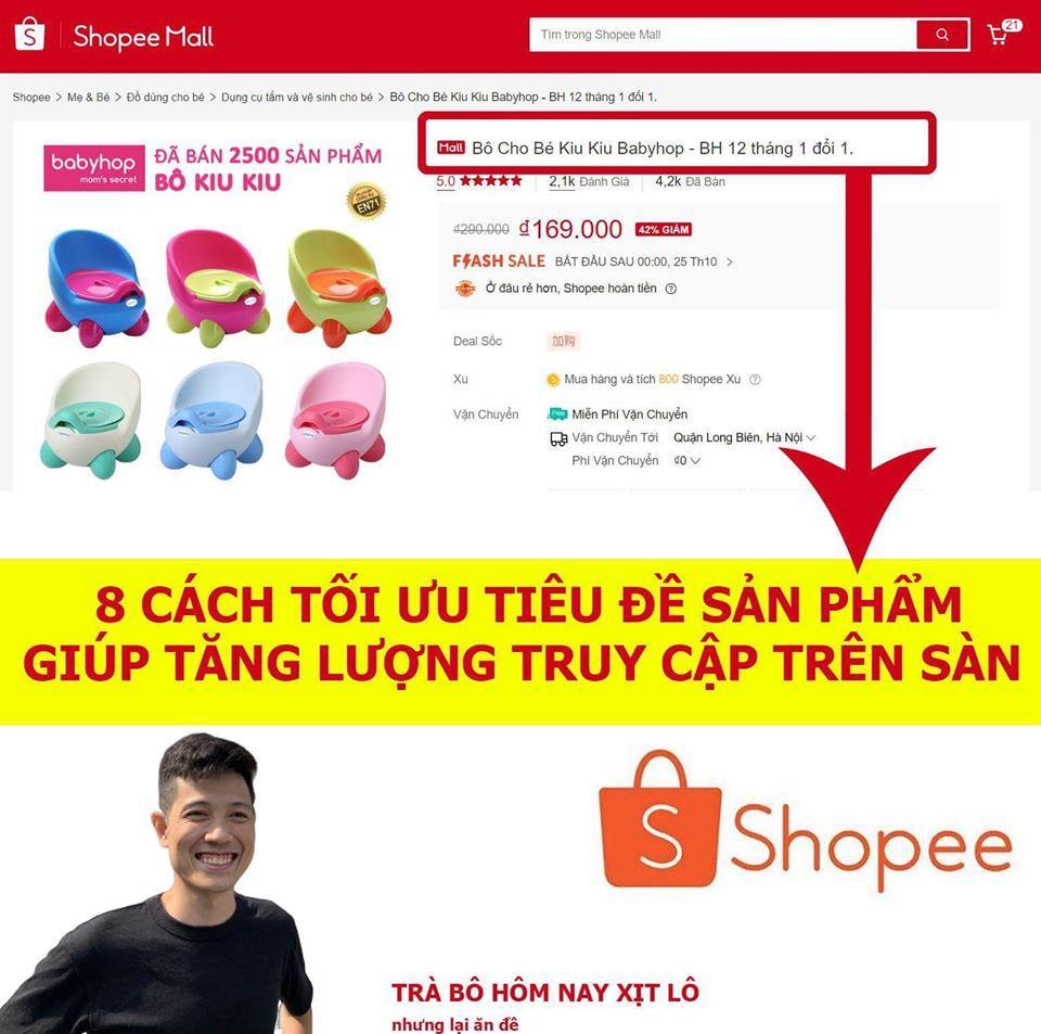 8 cách tối ưu tiêu đề sản phẩm Shopee