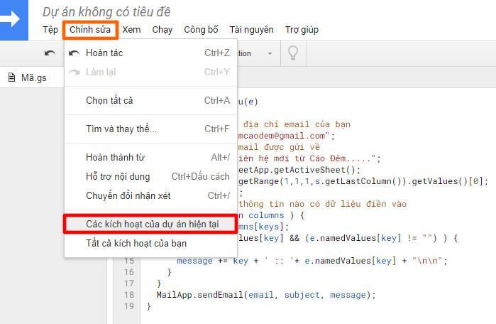 Tạo trang liên hệ cho WordPress với Google Forms