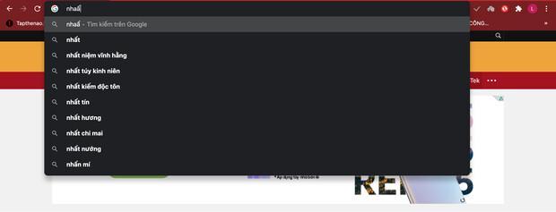 Loại bỏ sự khó chịu khi gõ chữ trên thanh địa chỉ Google Chrome